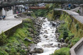 River through village
