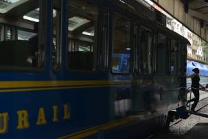Rail car to Machu