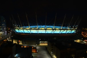 BC Stadium light display