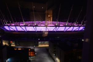 BC Stadium light display