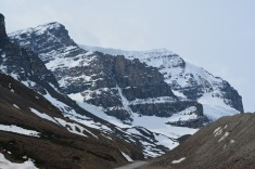 View of the left hand cliff of the ice field