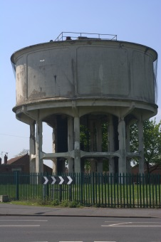 The old water tower soon to be demolished