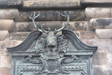 Stags head monument to the fallen