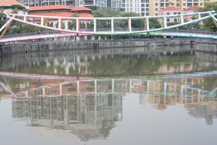Alkaff Bridge reflection