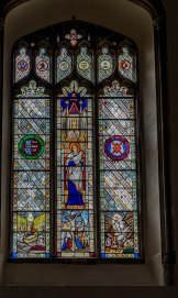one of many beautiful stained glass windows