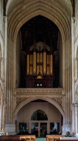 Organ pipe is Wymondham Abbey