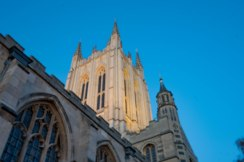 St Edmundsbury Cathedral at dusk