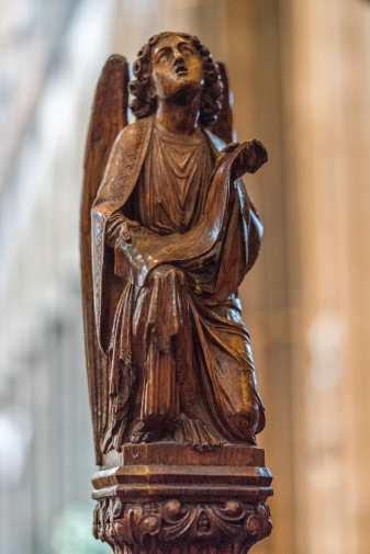 Carving on the choir stalls