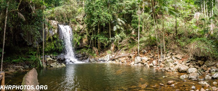 Curtis falls with panorama view