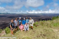 The Group atop the Volcano
