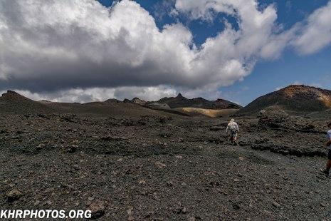 across the volcano edge