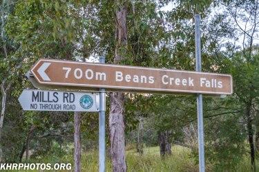 Beans Creek falls