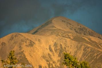Snow scraped mountain