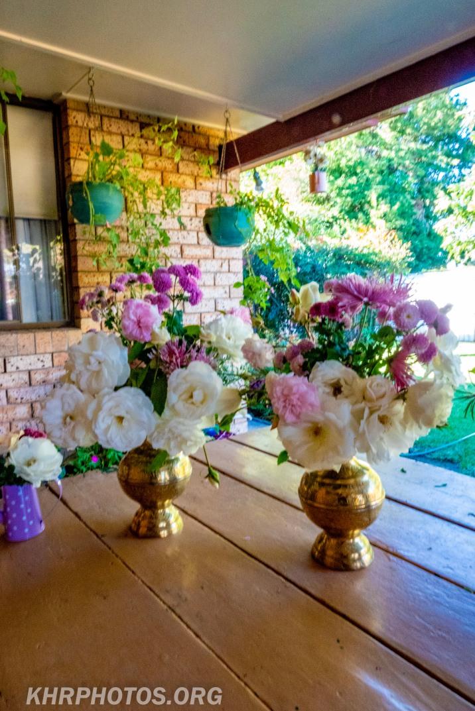 Flowers or the church and bridge club
